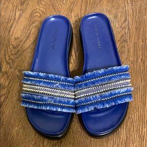 NEW DONALD/PILNER BLUE THONG SLIDES, BEAUTIES!!